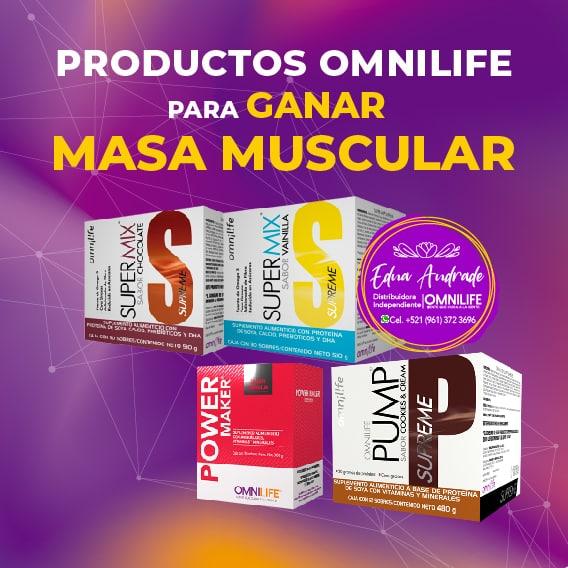 Productos Omnilife para Ganar Masa Muscular