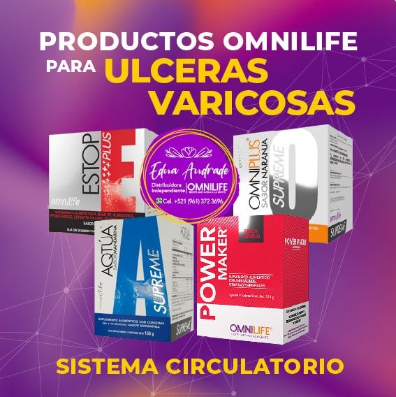 Productos Omnilife para Ulseras Varicosas